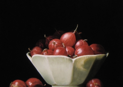 Gooseberries in White Bowl - SOLD