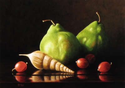 Pears with Shell and Gooseberries
